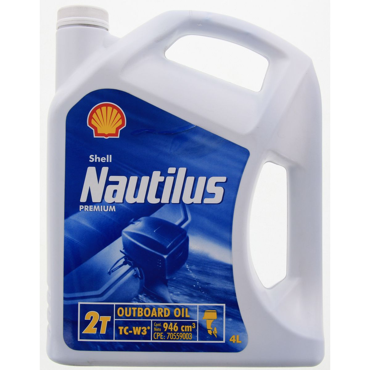 Shell Nautilus 2T Premium Outboard Oil TC-W3 (946mL, 5L)
