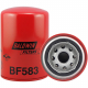 The Baldwin spin-on fuel filter BF583 with heavy-duty construction is a replacement for the Caterpillar 1R0710.