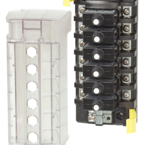 Blue Sea Systems ST CLB Circuit Breaker Block - 6 Independent Circuits 5050