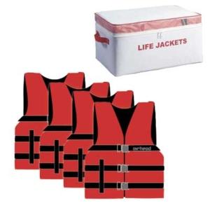Airhead Adult Universal Life Vests - 4/bag - Includes storage bag