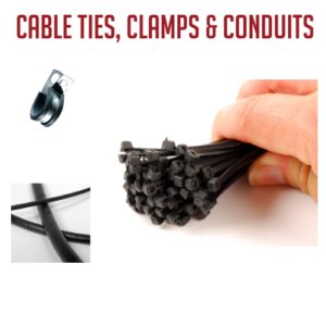 Cable Ties, Clamps & Conduits