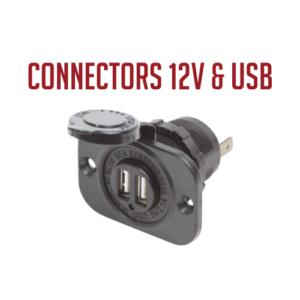 Connectors 12V & USB