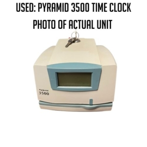 USED: PYRAMID 3500 tIME cLOCK PHOTO OF ACTUAL UNIT